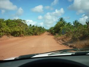 Route Brésil, piste